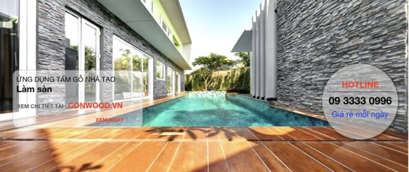 sàn gỗ SmartWood ngoài trời, dùng cho sàn bể bơi.